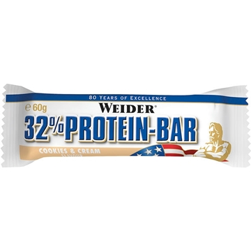 Billede af 32% Protein Bar Cookies & Cream 60 g.
