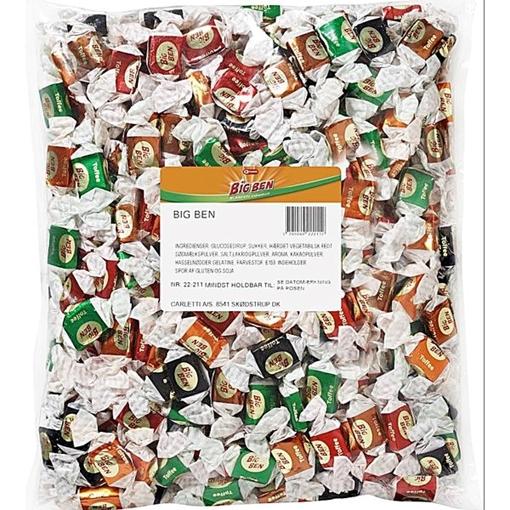 Billede af Carletti Big Ben Mix Karameller 1500 g.