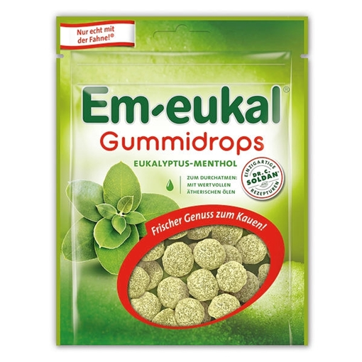 Billede af Em-eukal Gummidrops Eukalyptus-Menthol 90 g.