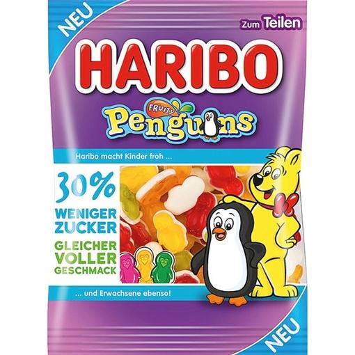 Billede af Haribo Fruity Penguin -30% sukker 160 g.