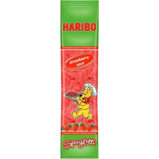 Billede af Haribo Spaghetti Jordbær Sur 200 g.