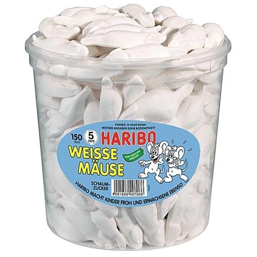 Billede af Haribo Hvide Mus 1050 g.