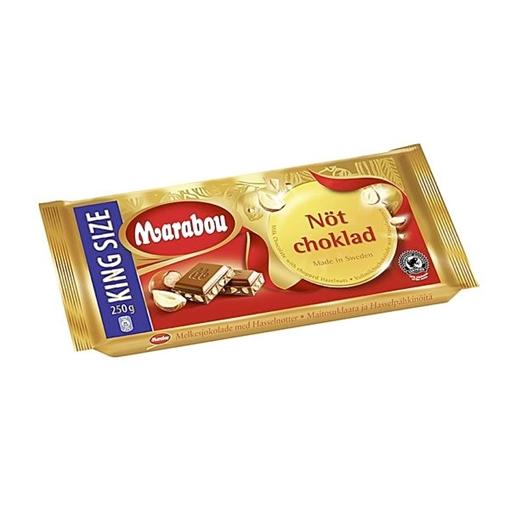 Billede af Marabou Mælkechokolade - Nødder 250 g.