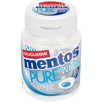 Billede af Mentos Tyggegummi, Pure White Sweet Mint 70 g.