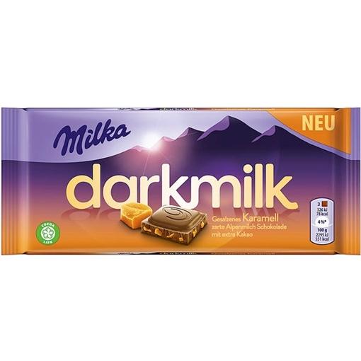 Billede af Milka Dark Milk Salz Karamell 85 g.