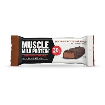 Billede af Muscle Milk Protein Riegel, Double Schoko 35 g.