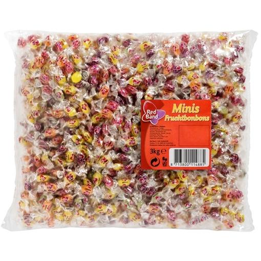 Billede af Red Band Mini Fruchtbonbons 3000 g.