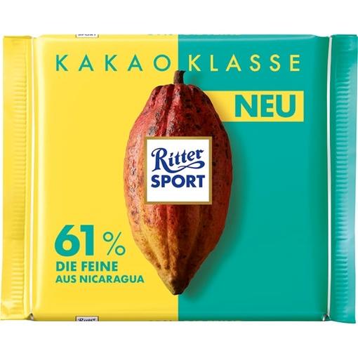 Billede af Ritter Sport Kakao Klasse 61% Die Feine aus Nicaragua 100 g.