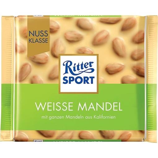 Billede af Ritter Sport Nuss-Klasse Weisse Mandel 100 g.
