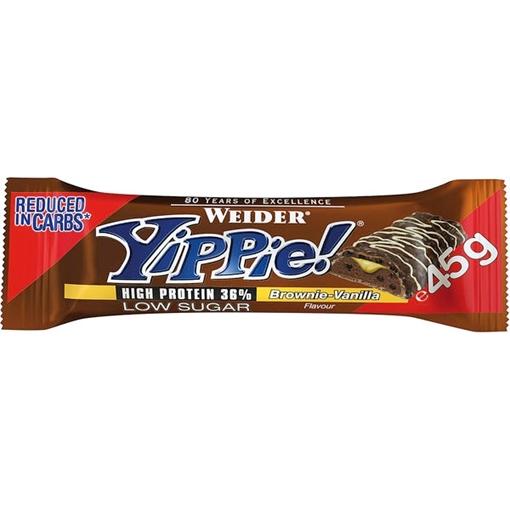 Billede af Weider Yippie! Bar Brownie Vanilla 45 g.