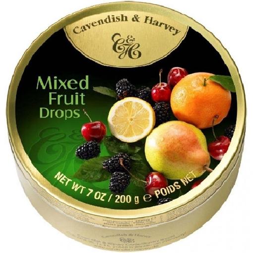 Billede af C&H Mixed Frugt Drops 200 g.