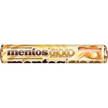 Billede af Mentos Choco Karamel + Hvid Chokolade 38 g.