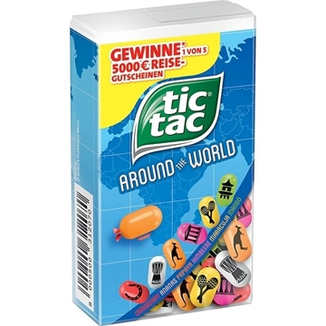 Billede af Ferrero Tic Tac 100er Around the World 49 g.