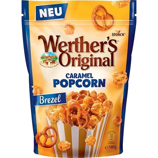 Billede af Werther's Original Caramel Popcorn, Meersalz & Brezel 140 g.