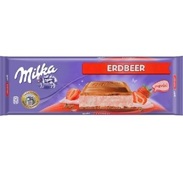 Billede af Milka Erdbeer 300 g.