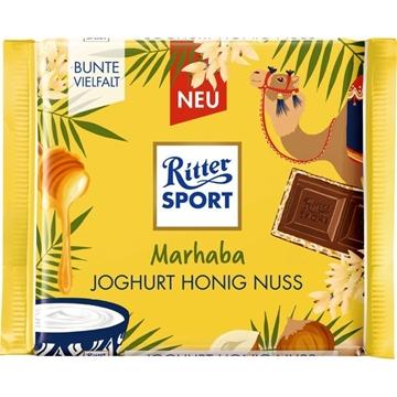 Billede af Ritter Sport Marhaba Joghurt-Honig-Nuss 100 g. MHT.  30-09-2021