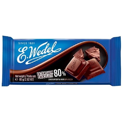 Billede af E. Wedel Extra dark Chocolate 80%