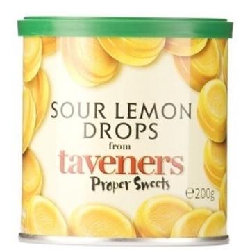 Billede af Taveners Sour Lemon 200 g. MHT. 03-02-2021