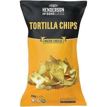 Billede af Henderson & Sons Tortilla Chips Nacho Cheese 450 g.