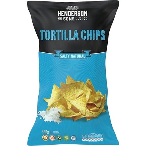 Billede af Henderson & Sons Tortilla Chips Salty Natural 450 g.