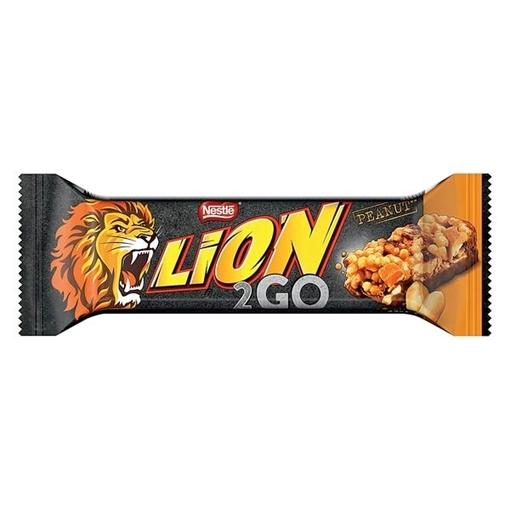 Billede af Lion 2go Bar Peanut 33 g. MHT.30-09-2020