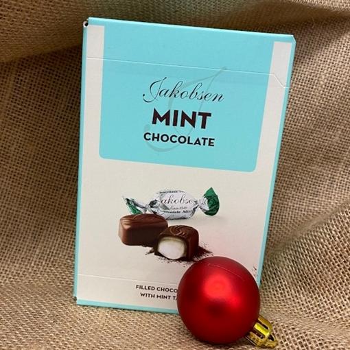 Billede af Jakobsen Mint Chokolade 125 g. MHT. 16-07-2021