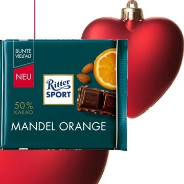 Billede af Ritter Sport Mandel Orange 100 g.
