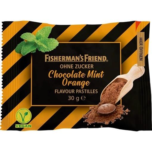 Billede af Fisherman's Friend Chokolade Mint Appelsin u/sukker 30 g.