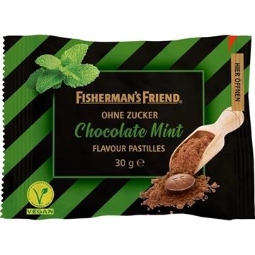 Billede af Fisherman's Friend Chokolade Mint  u/sukker 30 g.