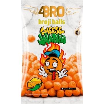 Billede af 4BRO broji balls Majs-Snack med Ost-Jalapeno smag 75g. MHT. 02-09-2021